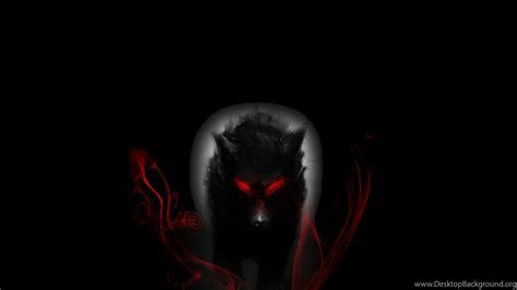 black wolf  red eyes  desktop background