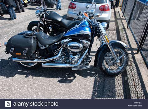 Blue Harley Davidson Screamin Eagle 110 Motorcycle Stock