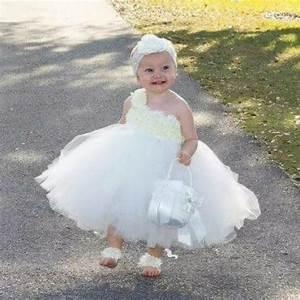 ivory flower girl dress baby girl flowers dress tutu dress With toddler girl wedding dress