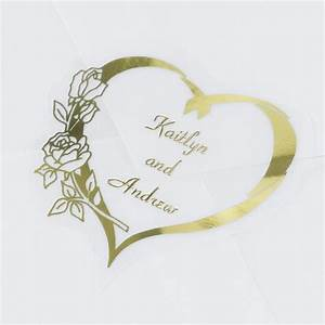 personalized gold heart seal invitations by dawn With wedding invitation seals etiquette