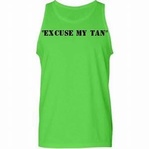 excuse my tan Custom Uni American Apparel Neon Tank