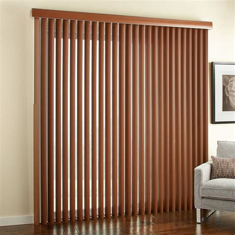 3 1 2 quot embossed faux wood vertical blinds contemporary