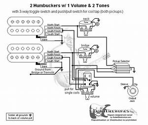 Guitar Wiring Diagram 2 Humbuckers  3 1 Volume  2 Tones  Coil Tap