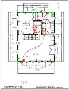 cottage blueprints 24 x 32 cabin plans cabin plans