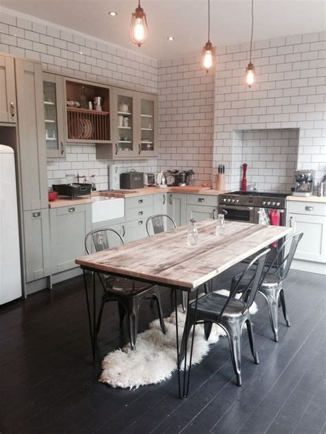 kitchen table top ideas best 25 rustic industrial kitchens ideas on