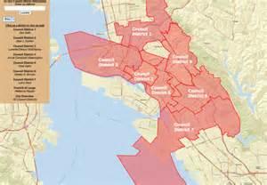 Oakland City Council District Map