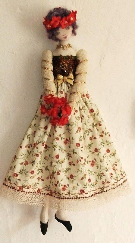 bois fleurie  fabric doll