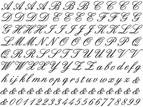 Cursive Alphabet Ceramic Decals, Glass Decals Or Enamel Decals — Custom Ceramic Decals Glass