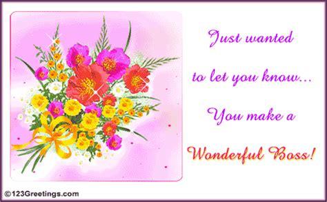 wonderful boss  boss ecards greeting cards