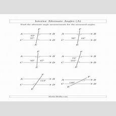 Complementary And Supplementary Angles Worksheets Homeschooldressagecom