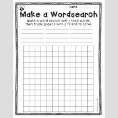 Spelling Activities {a Freebie}  Make A Wordsearch Printable Sheet  Primarily K2 Pinterest