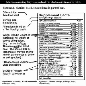 note once you have opened these pictures clicking on With supplement facts template