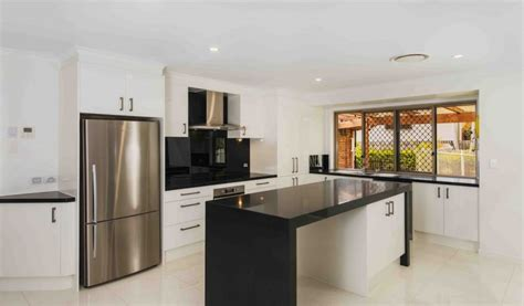 brisbane kitchen designers monochrome kitchen design kitchen connection brisbane 1809