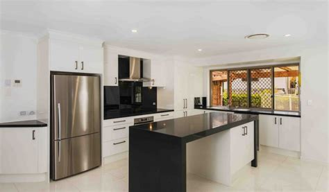 Monochrome Kitchen Design   Kitchen Connection Brisbane