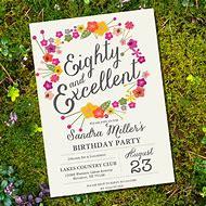 Free Printable 80th Birthday Invitation