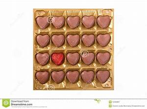 Square Box With Heart Shape Chocolate Bombons Royalty Free ...