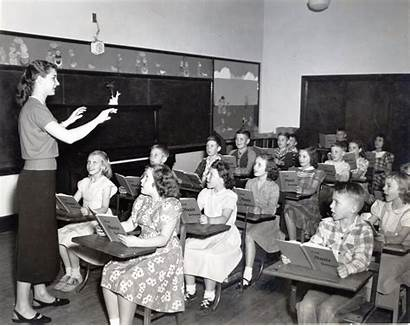 Classroom 1950s 1950 Student Teaching Education Students