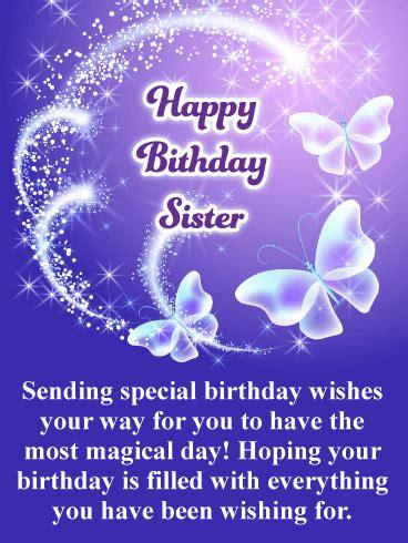 butterfly birthday cards  sister birthday greeting