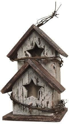 Primitive Wood Bird House Ebay