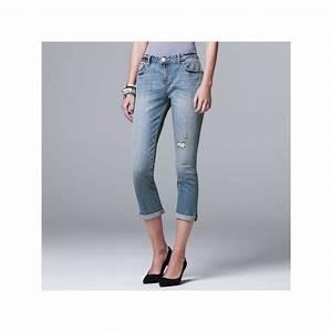 Simply Vera Vera Wang Ripped Boyfriend Jeans