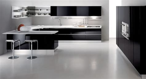 black and white contemporary kitchen 30 black and white kitchen design ideas home decorating 7843