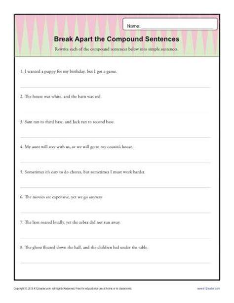 apart the compound sentence sentence structure
