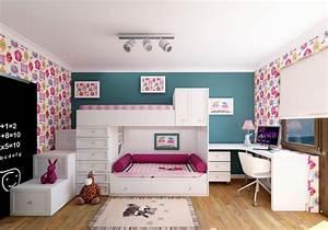 Möbel Für Kleine Kinderzimmer : m dchenzimmer m bel 38 verspielte kinderzimmer ideen ~ Michelbontemps.com Haus und Dekorationen