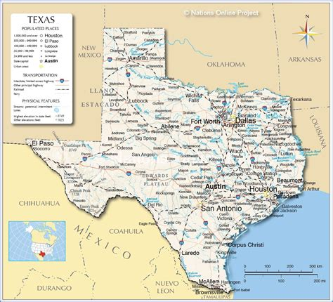 reference map  texas tex