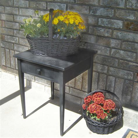 Front Porch Table by Wood Table Refinishing For Front Porch Decor