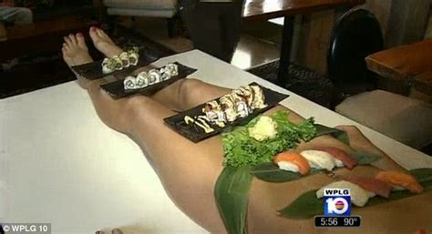 Diners Pay 500 To Eat Sushi Off Nude Models At Florida