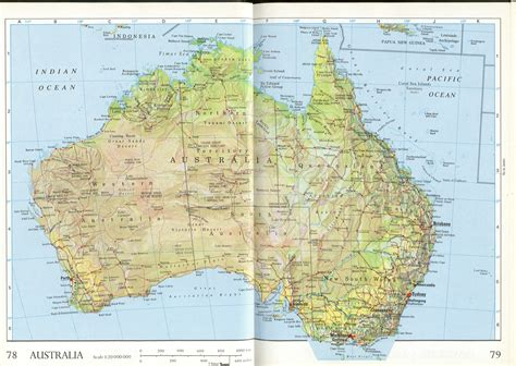 large detailed relief  administrative map  australia