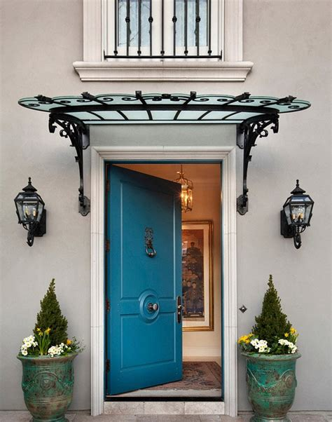 Entry Door Awning by Add Decors To Your Exterior With 20 Awning Ideas Home