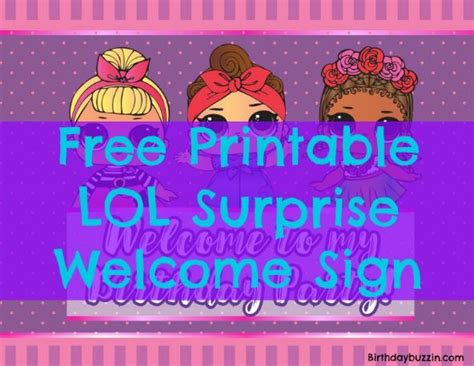 printable lol surprise birthday party  sign