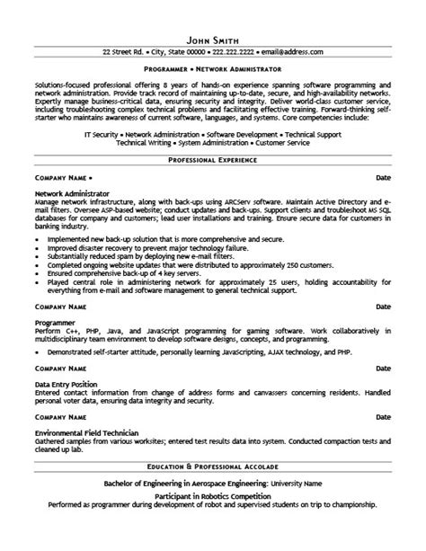 Information Technology Resume Template 2015 by Network Administrator Resume Template Premium Resume Sles Exle