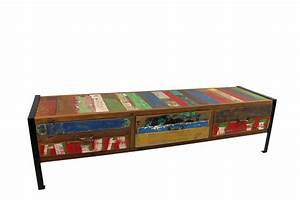 Möbel Aus Recyclingholz : tv board aus teak recyclingholz und metall ready 2 buy das m belhaus in hamburg nedderfeld ~ Sanjose-hotels-ca.com Haus und Dekorationen