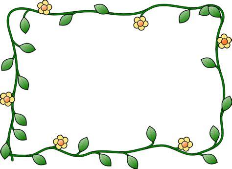 plant border designs flower frame clip art at clker com vector clip art online royalty free public domain