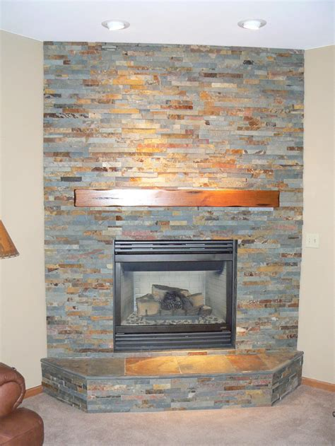 stacked fireplace casual cottage
