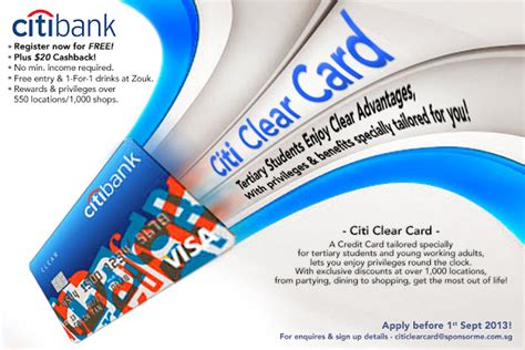 On the plus side, a variety of issuers are willing to take that bet. Citi Clear Card: The first credit card that requires no minimum income for tertiary students ...