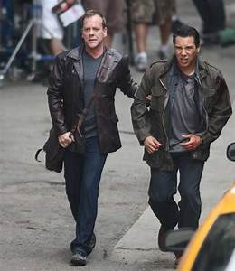 Kiefer Sutherland and Benito Martinez filming 24 Season 8 ...