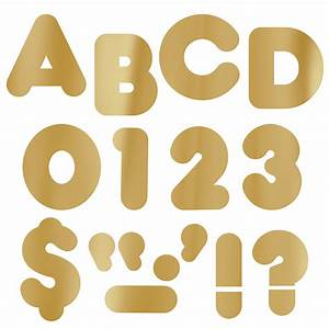 4quot gold bulletin board letters classroom decorations for Gold bulletin board letters