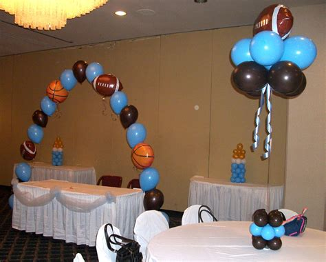 sports themed baby shower decorations  baby decoration