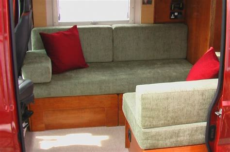 small rv sofa bed deep red a self build motorhome beds seats