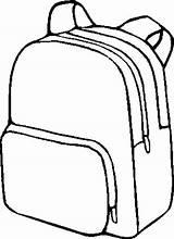 Backpack Clipart Preschool Coloring Kindergarten Craft Planning Clipartix Printables sketch template
