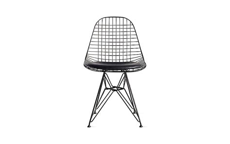 eames wire chair with seat pad herman miller