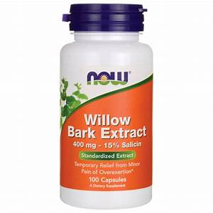 Now Foods Willow Bark Extract 400 Mg 100 Caps