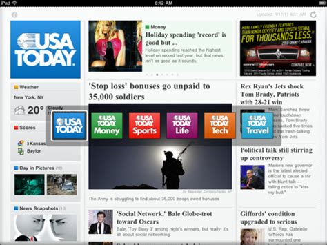 Download USA Today 2.0 for iPad, Now with Tech & Travel