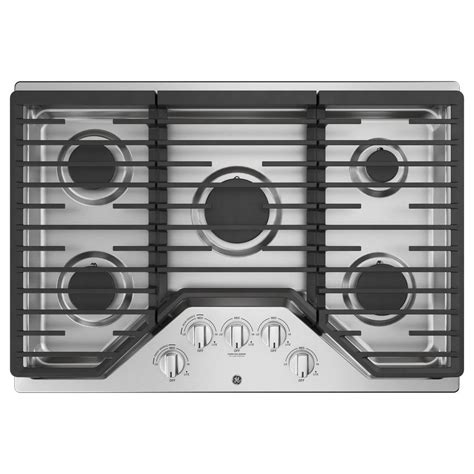 ge gas cooktop ge 30 in gas cooktop in stainless steel with 5 burners