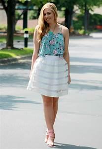 Rachelu0026#39;s Lookbook - white skirt