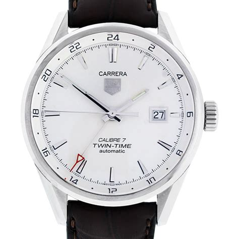 tag heuer carrera tag heuer war2011 carrera calibre 7 twin time watch