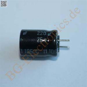 Schaltkreise Berechnen : 20 x 220 f 220uf 25v 105 rm5 elko kondensator capacitor r ~ Themetempest.com Abrechnung